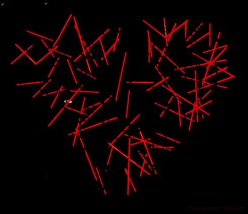 Lichtobjekt Herz im Palmengarten