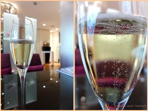 champagner perlen glas licht effekte